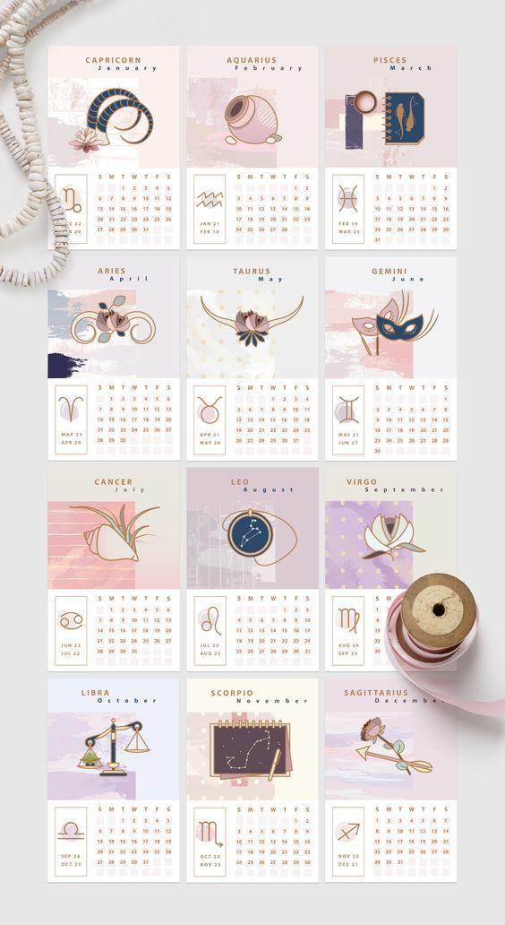projektowanie kalendarzy