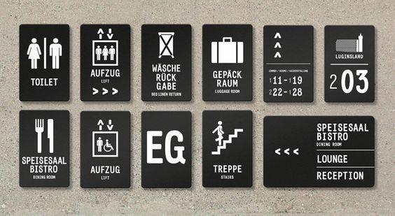 projektowanie tabliczek z piktogramami