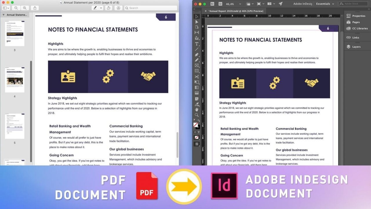konwersje PDF do InDesign